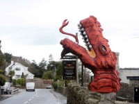 What you say about Plas Rhianfa's fire-breathing dragon