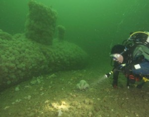 See ghostly underwater footage of world's first steam powered submarine lying in waters off Rhyl