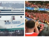 Welsh fans' singing on way to World Cup tie in Dublin strikes bum note with ferry crew
