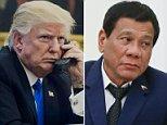 Trump praises Duterte for 'unbelievable job' in drug war