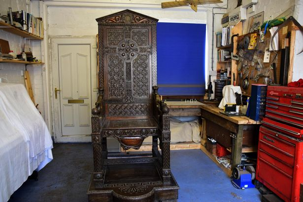 The Black Chair Of The 1917 National Eisteddfod At The