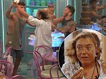 Big Brother housemates start a chocolate fondue food fight