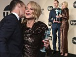 Nicole Kidman gets kiss on cheek from Alexander Skarsgard