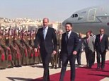 Prince William is welcomed to Jordan by Crown Prince Hussein