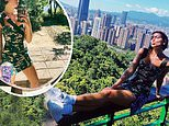 Dua Lipa concerns fans as she poses on a narrow ledge 600ft above ground in risky Instagram snap