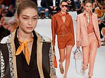 Gigi and Bella Hadid command the catwalk at Tod's show during MFW