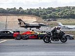 Supercar, superbike, F1 car, private jet and fighter jet go head to head… so who wins?